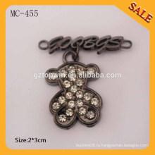 MC455 Мода особенность пользовательских металлических логотипов наклейки для сумок