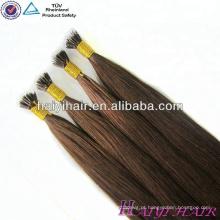 Produtos de cabelo de Qingdao Haiyi cutícula alinharam extensão do anel de Nano de extensão de cabelo remy russo.