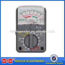 Multimètre Analogique de Multimètre Analogique Multimètre, Mètre Courant Voltmètre Portable Mètre P-2