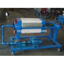 320 plaque et cadre filtre presse pour l'huile de noix de coco, pp plaque de filtre à membrane