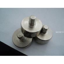 Магнит постоянный керамический горшок