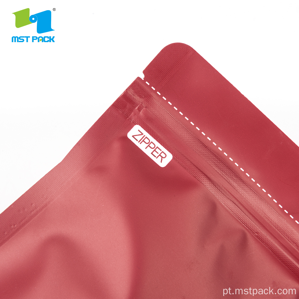 O bolso do diamante Zipper Doypack levanta-se o malote