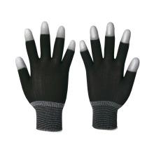 13 Gauge Nylon gestrickte Sicherheitshandschuhe mit PU auf den oberen Finger beschichtet