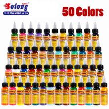 Tatuagem Solong maquiagem permanente 50 cores 30 ml 1 oz tatuagem pigmento kit