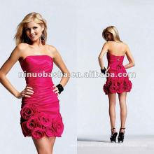 облегающий вид с ручной цветы платье для коктейля