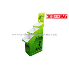 Promotional 4 Tier Cardboard Product Display Stands For Pet Foods