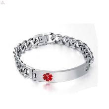 Chegada nova cubano link pulseira de corrente de prata, homem legal ligação cubana corrente de prata pulseira de jóias