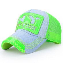 Mode gewaschen Baumwolle Denim Mesh Baseball Cap (YKY3010B-1)