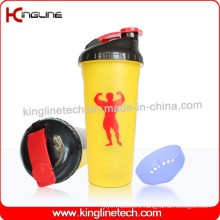 700ml Plastic Protein Shaker Bottle with Filter (KL-7020)