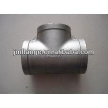 De acero al carbono Pipe Fitting Tee Igual de zinc fresco -dip