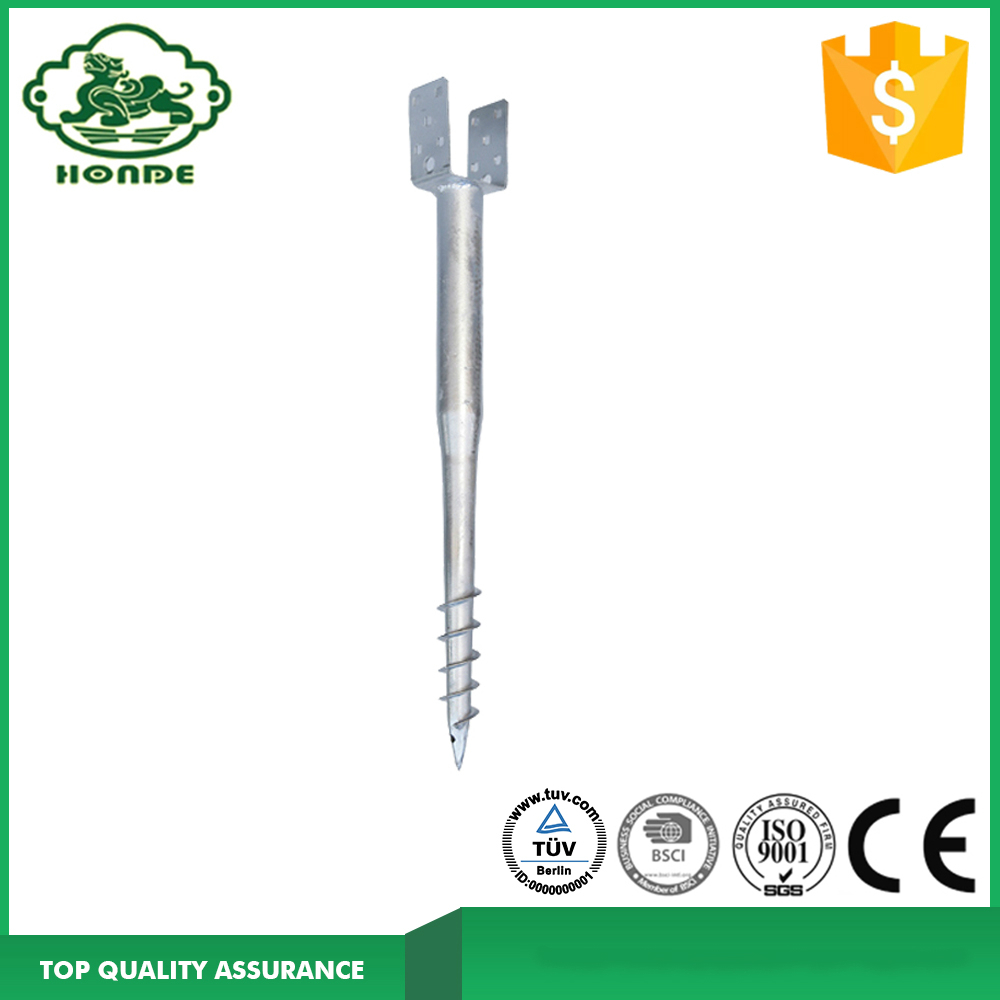 Ground Screw Anchor For Decks