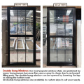 High quality aluminium double hung window
