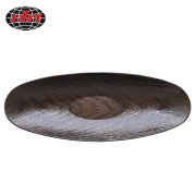 Brown Boat-shaped Glitter Plastic Charger Plate