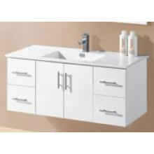 White Gloss MDF Wall Mounted Bathroom Vanity (UV8027-1200W)