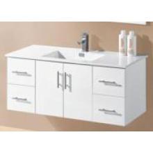 Белая глянцевая MDF настенная ванная комната Vanity (UV8027-1200W)