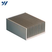 Dissipateur LED en aluminium anodisé naturel argenté série 6000