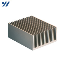 6000 series extruded natural anodized Silver Custom aluminum LED heatsink