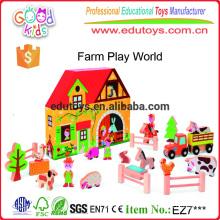 Yunhe Деревянные игрушки завод Прямая продажа Высокое качество Kids Farm Play Set