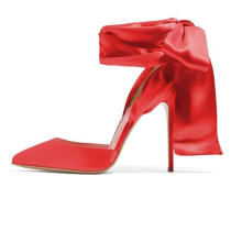 Women Strappy Ankle Wrap Sandals High Heels Pointed Toe D′ Orsay Slingback Pumps