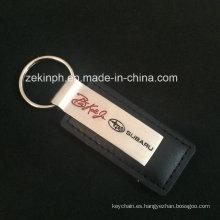 Diseño personalizado de cuero marca Subaru llavero