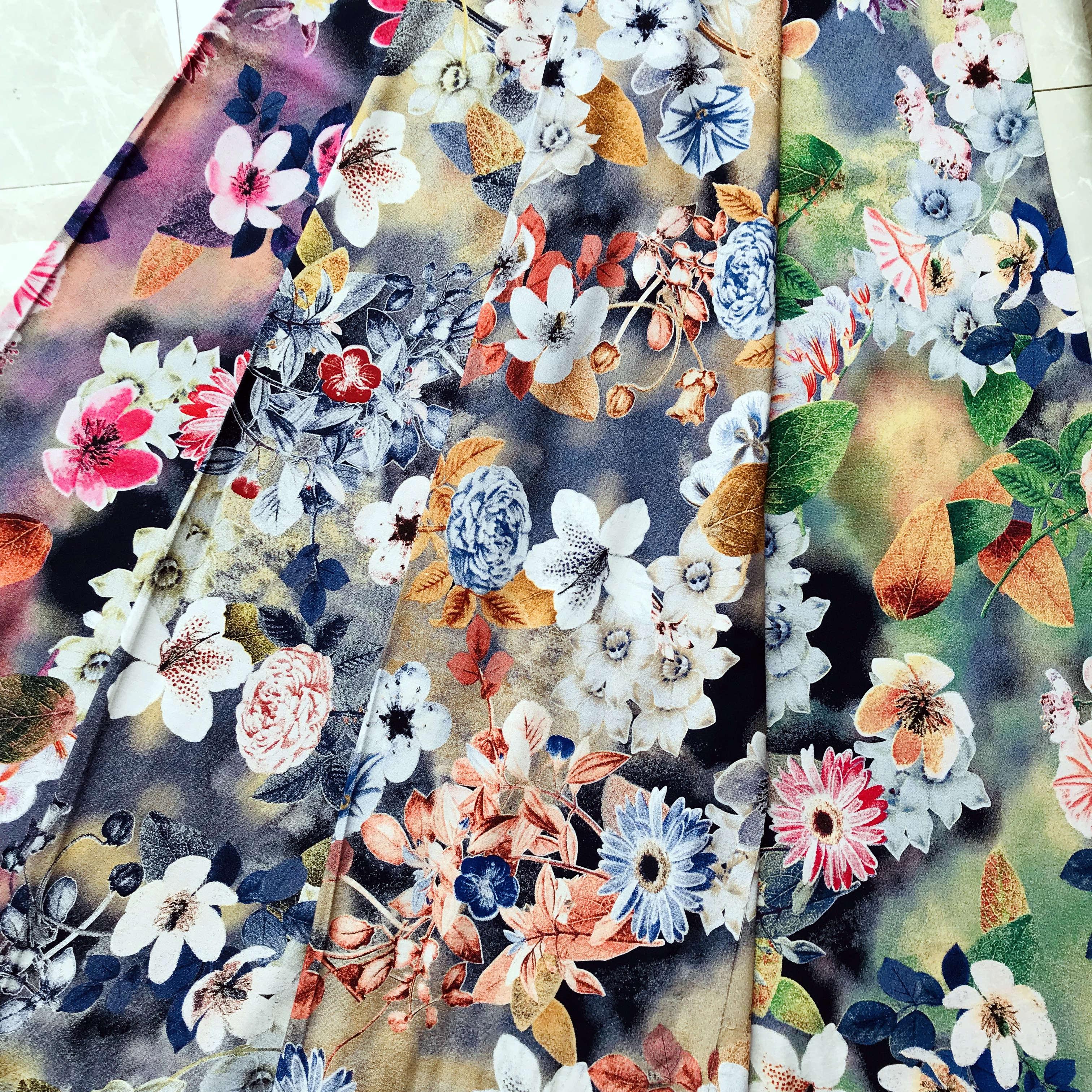 30s rayon discharge print fabric