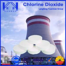 Tablette de dioxyde de chlore pour la purification de l'eau recyclée pour la chaudière