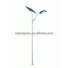 Steel light pole with solar panel
