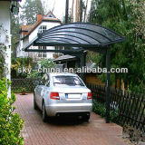 Portable Aluminum Carport with polycarbonate roof