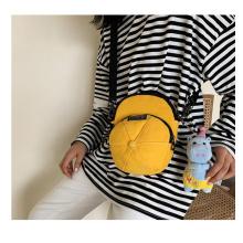 Newest cat design zipper canvas crossbody bag for window shopping mini phone bag