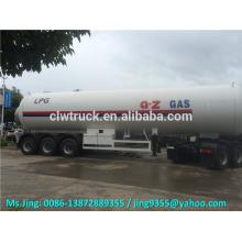 Remolque grande del tanque del propano del lpg de los alxes 3 del precio bajo 56000 litros para la venta