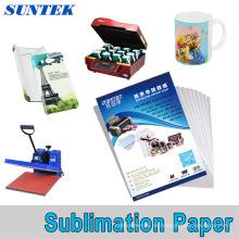 A3 A4 Roll Sublimationspapier für Tassen, Polyester T-Shirt Papel Transfer PARA Sublimacao