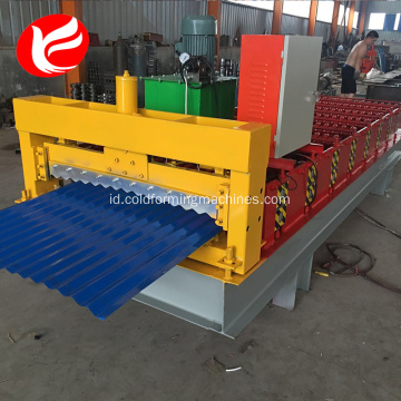 Warna atap baja panel roll membentuk mesin