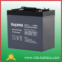 Batterie profonde de gel de cycle de 12V 55ah pour solaire