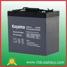 Bateria profunda do gel do ciclo de 12V 55ah para solar