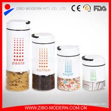 Venda quente Revestimento decorativo de vidro de doces Jar recipiente com tampa