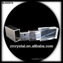 3D laser crystal usb flash drive avec lumière colorée