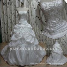 RSW78 reales herrliches empfindliches merkwürdiges einzigartiges wulstiges gesticktes Taft-Hochzeits-Kleid