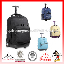 2013 Kids School Bag with Wheels for Latest Designs Rolling Backpack