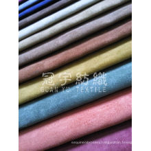 Polyester Home Upholstery Suede Fabric for Sofa