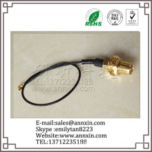 Bottom price new arrival rp-sma female to ufl male pigtail cable