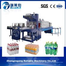Máquina automática del embalaje del encogimiento del embalaje de la botella de la película del PE