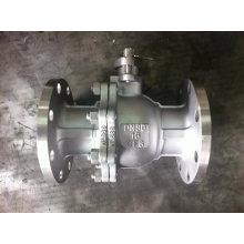 Válvula de bola flotante Pn16 CF8 / CF8m con extremo de brida