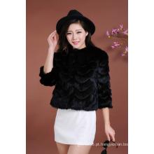 Alta Qualidade Senhora Inverno Pele Vestuário Mulheres Moda Outwear Pele Atacado Quente