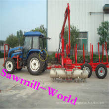 Factory Sale Log Loader Timber Trailer with Ce