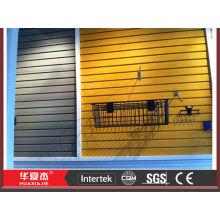 display wall panel fireproof pvc slatwall panel