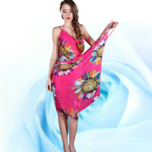 Women Printed Chiffon Beach Towel Shawl (50173)
