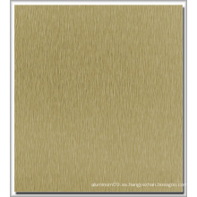 Long Brush Color Coated Aluminum Plate para Electrónica Utilizado
