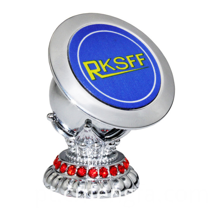 Magnetic Mobile Phone Holder With Diamond Silver