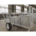 Remorque portative de panneau de yard de chèvre de mouton pour l'usage de ferme d'élevage avec le dessinateur