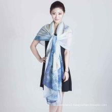 Silk Digital Printed Shawl (12-BR110303-16)